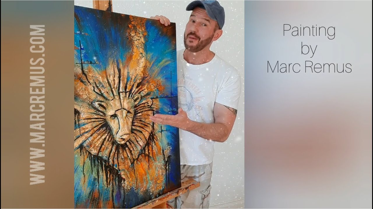 Zodiac Leo painting (video)