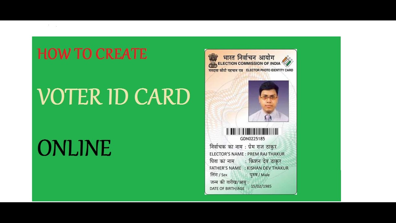 how to make voter id card online youtube