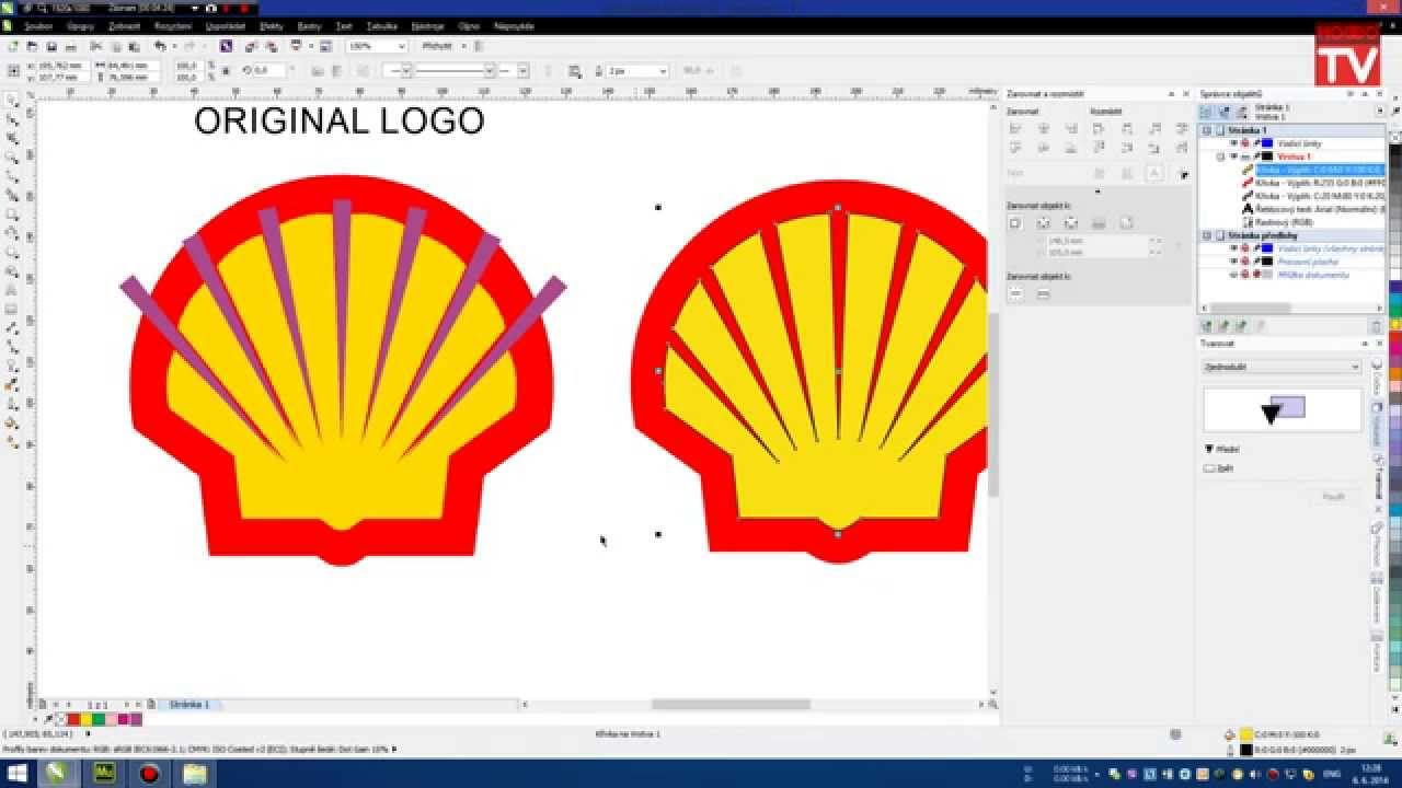 COREL] [Tutorial] SHELL LOGO - How easily and quickly the logo ...