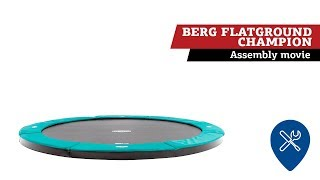 BERG FlatGround Champion trampoline | assembly movie