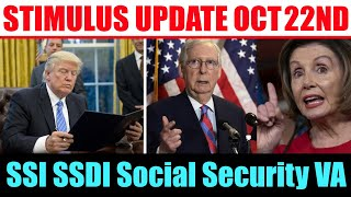 Stimulus Check Update | SSI SSDI Social Security VA | Second Stimulus Check | Oct 22nd