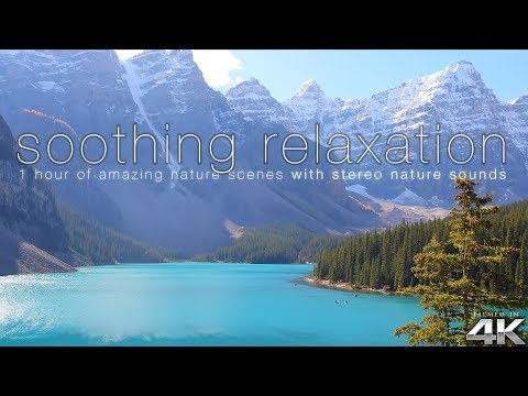 "Breathtaking Nature in 4K - 1HR w/ Ambient Sounds: ""Soothing Relaxation"" NEW"