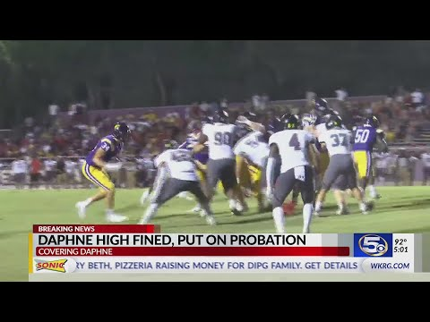Daphne High School football hit with punishment