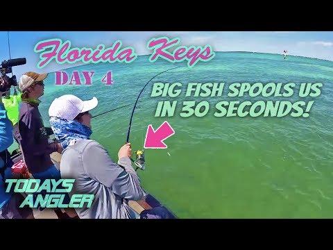 BIG FISH SPOOLS US!! - Florida Keys Day 4 - Todays Angler