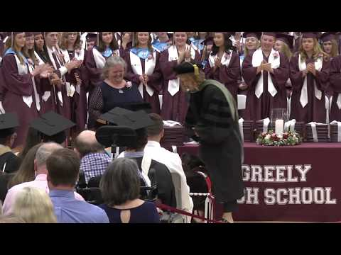 Greely High School Graduation - Therapy dog Jade Allen