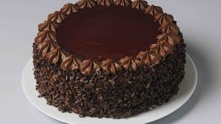 How To Decorate Chocolate Cake  Easy Cake Decoration  Atul Kochhar