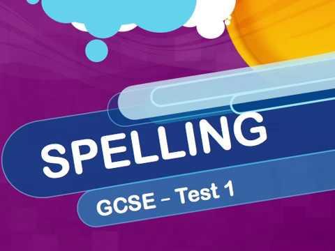 GCSE - Spelling - Test 1