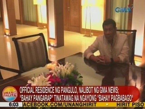 UB: Official residence ng Pangulo, nalibot ng GMA News