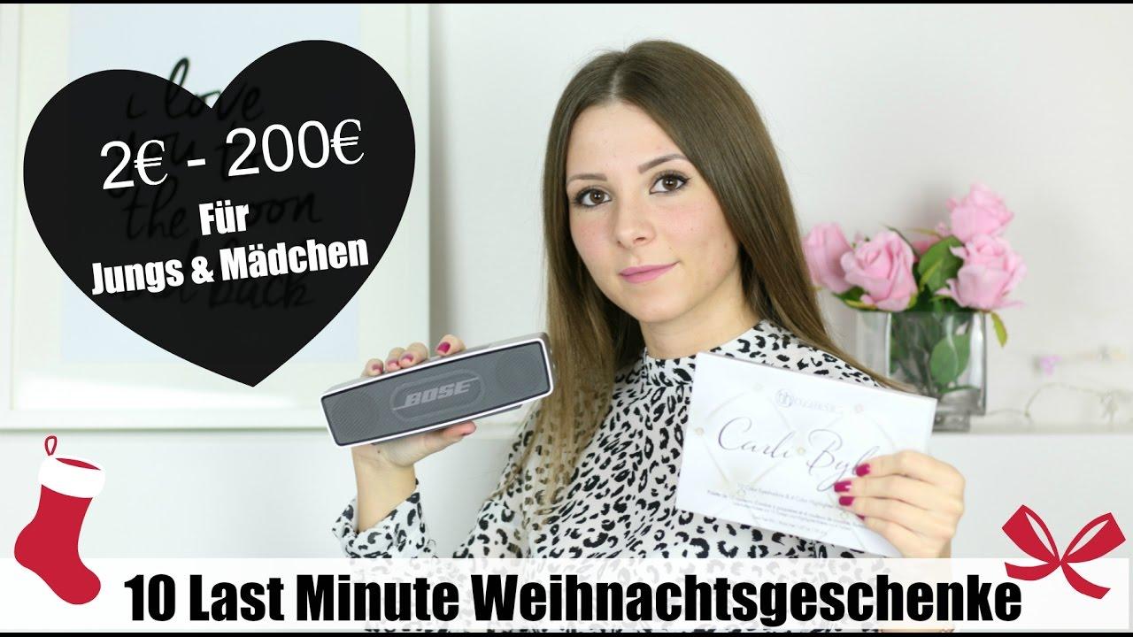 10 LAST MINUTE WEIHNACHTSGESCHENKE 🎁 | 2€ - 200€ | FÜR JUNGS & MÄDCHEN