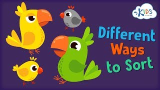 Sort the Same Group Two Different Ways | Preschool and Kindergarten | Kids Academy