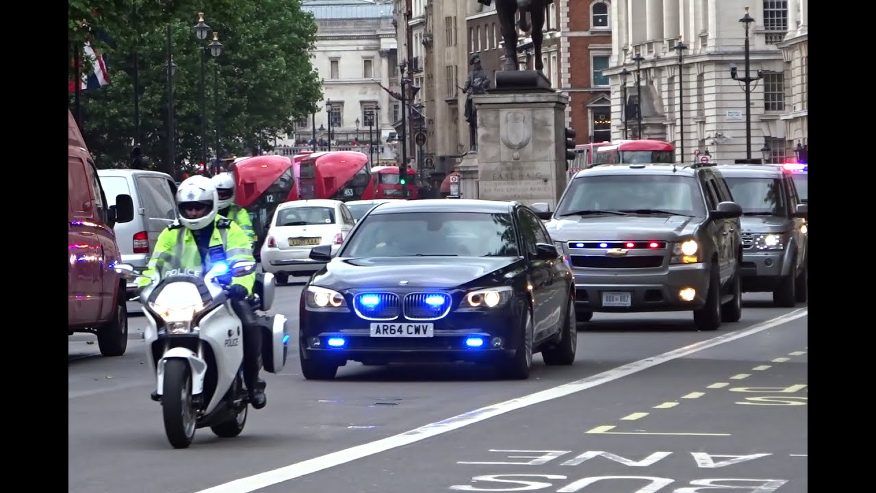 Police Amp Secret Service Escorting Michelle Obama In London