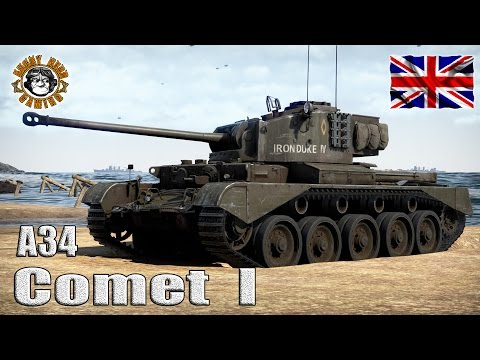 War Thunder: The A34 Comet I, British Tier-3, Medium Tank