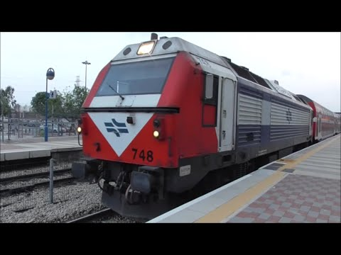 Israel Railways, Trains in and around Tel Aviv.