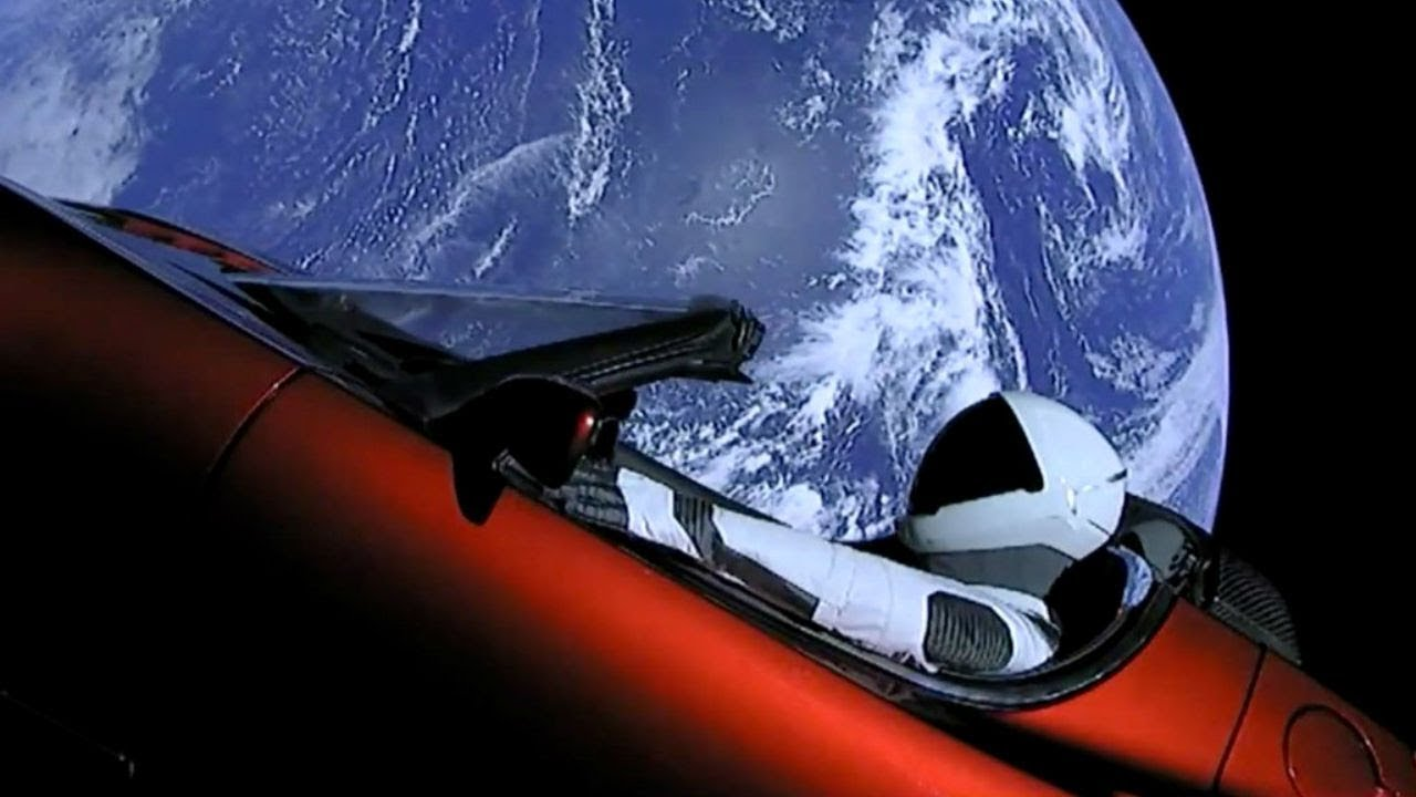 Elon Musk's SpaceX launches Tesla Roadster to Mars on the Falcon Heavy  rocket HD