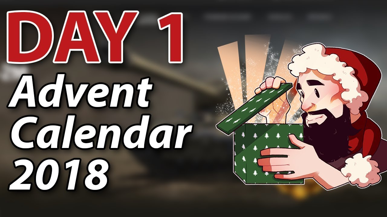 day 1 advent calendar 2018 world of tanks youtube. Black Bedroom Furniture Sets. Home Design Ideas