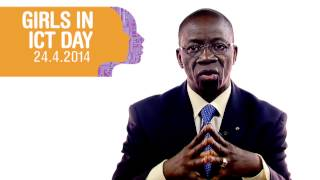 Repeat youtube video International Girls in ICT Day 2014; Video message Mr. Brahima Sanou