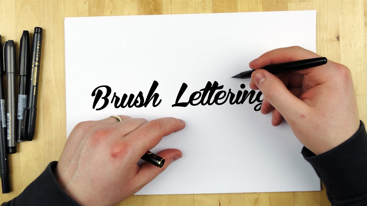 Hand lettering tutorial how to use a brush pen youtube