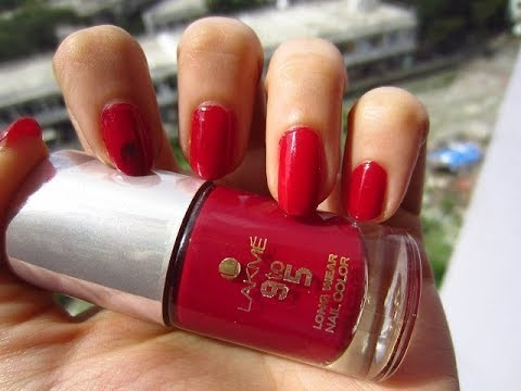 Best Lakme 9To5 Long Wear Nail Color / Tiny Makeup Update