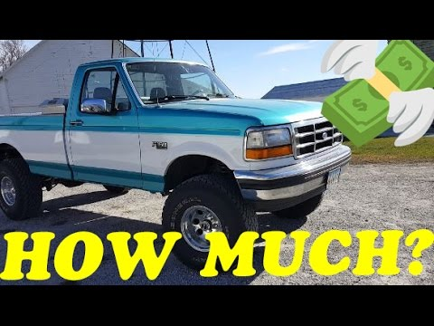 HOW MUCH DID IT COST? 1994 F150 4x4