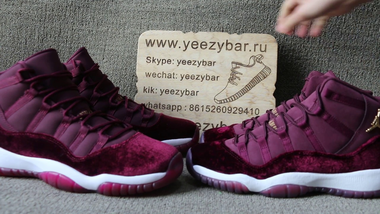 real vs fake Air Jordan 11 Velvet Heiress GS Comparison Review - YouTube 053004b8e