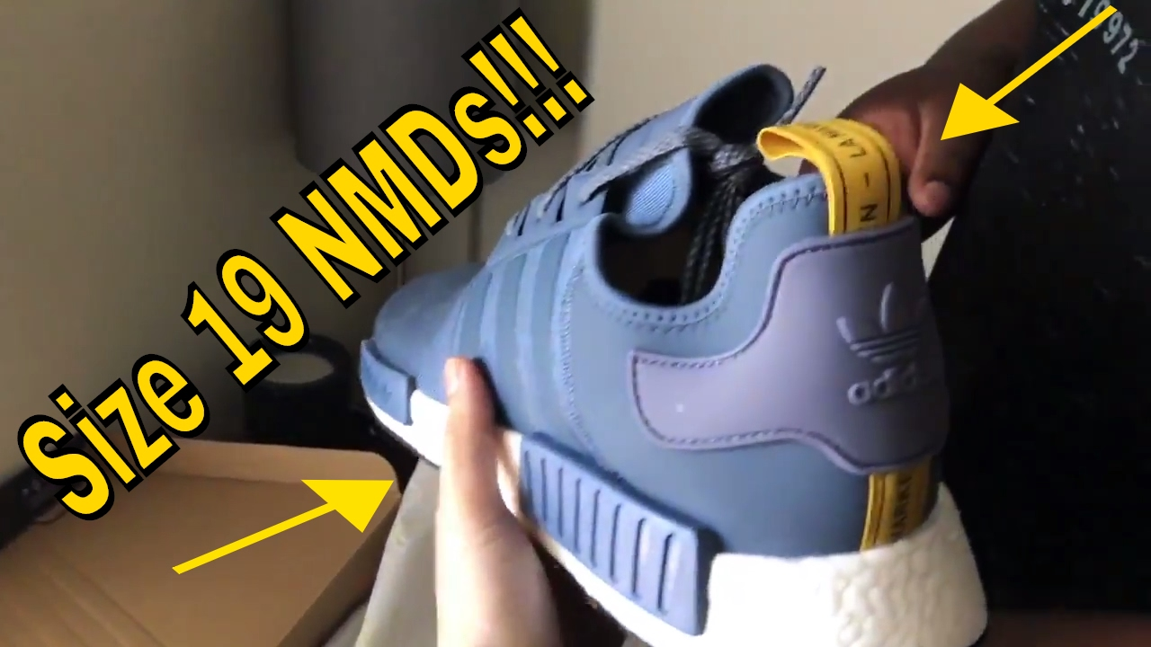 3ea835d8195bc NMD Tech Ink Size 19 Unboxing