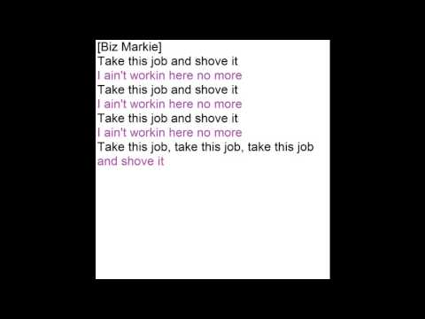 Shove This Jay Oh Bee (instrumental karaoke with lyrics) Office Space Soundtrack -