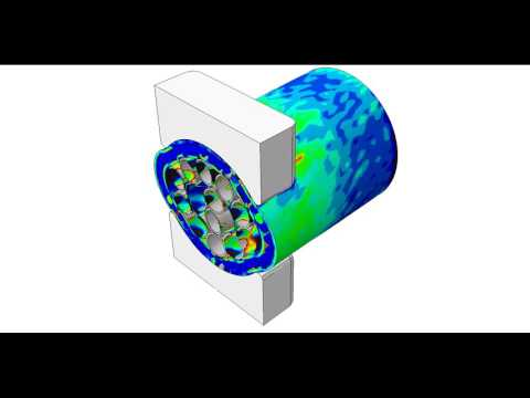 Subsea umbilical FEA simulated crush test