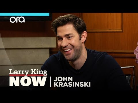 How John Krasinski fell in love with Emily Blunt  Larry King Now  Ora.TV