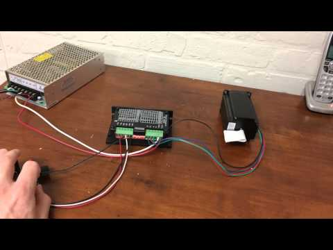 Controlling a stepper motor through a signal generator for Making an electric motor