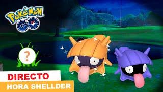 ¡HOY SALE SHELLDER SHINY! JUGAMOS LA HORA DESTACADA EN DIRECTO -  Pokemon Go [Neludia]