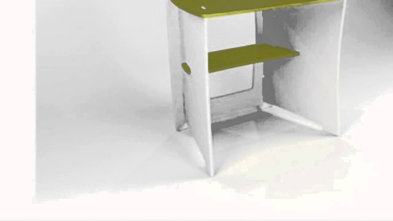 Legare 34 Inch Kids Desk Green And White Youtube