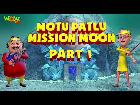Motu Patlu Mission Moon - Movie - Part 1   Movie Mania - 1 Movie Everyday   Wowkidz