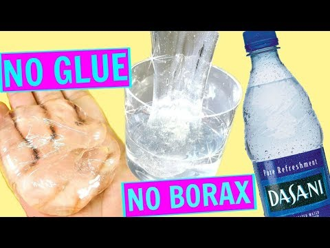 WATER SLIME 💦 HOW TO MAKE CLEAR SLIME WITHOUT GLUE, WITHOUT BORAX! WATER SLIME RECIPES!