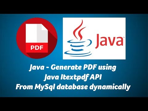Java - Generate PDF Using Java Itextpdf, Mysql Database Dynamically