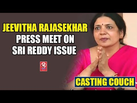 Jeevitha Rajasekhar Press Meet On Sri Reddy Issue | Casting Couch | V6 News