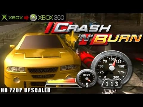 Crash 'N' Burn - Gameplay Xbox HD 720P (Xbox to Xbox 360)