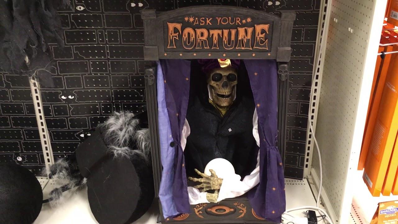 Halloween Fortune Teller Animatronic.Target Halloween 2017 Skeleton Fortune Teller