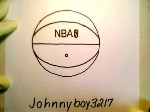 How To Draw A Basketball Real Easy Nba Como Dibujar Una Pelota De Baloncesto Basquet Fun2draw