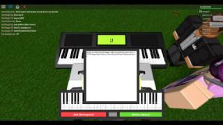 Roblox piano i came in like a wrecking ball