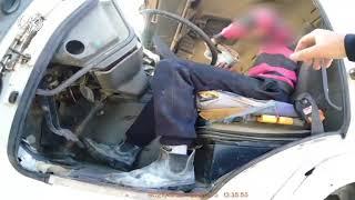 צפו: נער בן 15 נתפס נוהג על משאית במשקל של 34 טונות