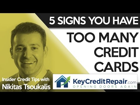 Key Credit Repair Signs You Have Too Many Credit Cards