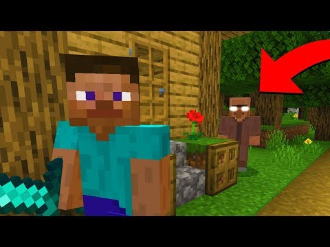 This villager keeps following me in Minecraft.. (Scary Minecraft Video)