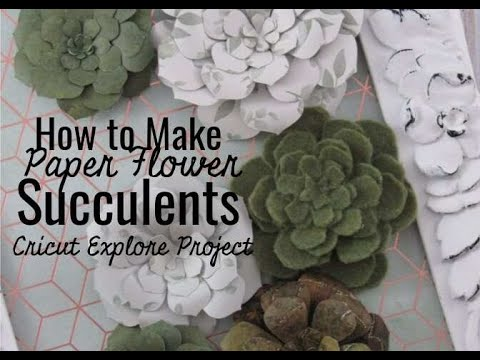 How to Make Paper Flower Succulents using Your Cricut Explore