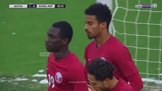 هدف أكرم عفيف  | قطر 1 - 0 كوريا الجنوبية |  تحديد المركز الثالث - كأس آسيا تحت 23 سنة