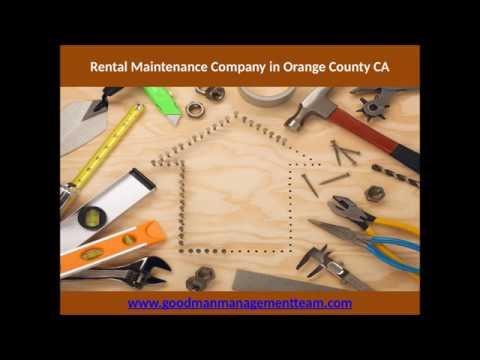Rental Maintenance Company in Orange County CA