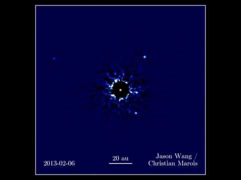 Four Planets Orbiting HR 8799