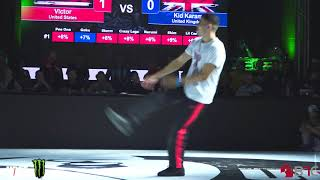 Victor vs Kid Karam - Top 16 1vs1 BBoys na Silverback Open 2018
