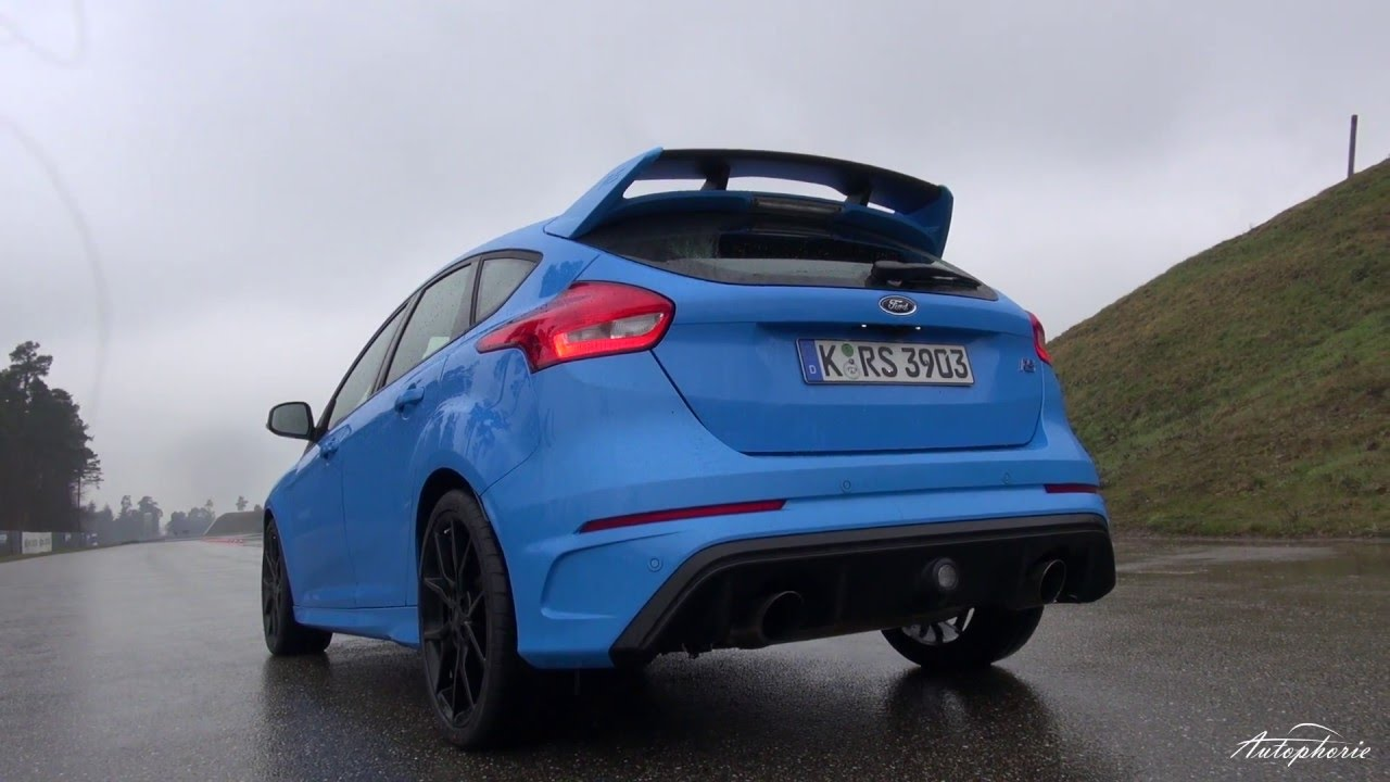 2016 ford focus rs exhaust sound acceleration 0 100 kph 0 62 mph