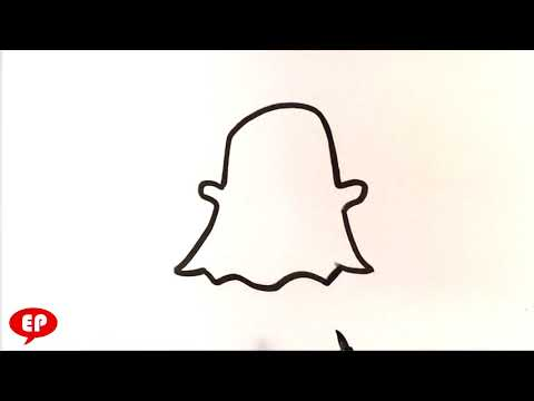 How to Draw Snapchat Ghost - Easy Pictures to Draw