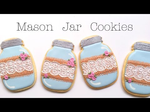 Mason Jar Cookies With Burlap and Lace!